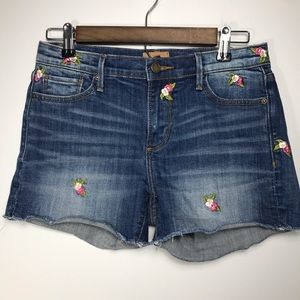 Driftwood Connie Floral Embroidered Cut Off Shorts